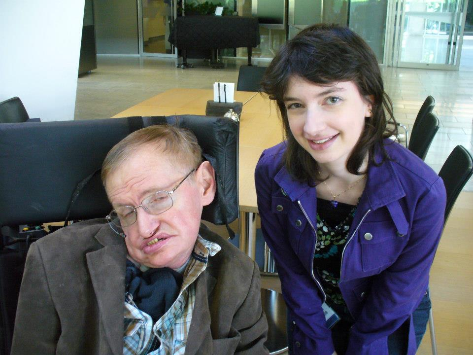 Miriam Diamond with Stephen Hawking