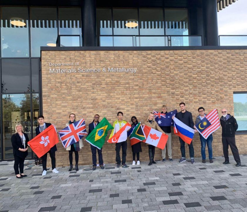 2019 YPWLC Finalists after our tour of the University of Cambridge: Department of Materials Science & Metallurgy by IOM3 President and University of Cambridge Professor Dr. Serena Best.