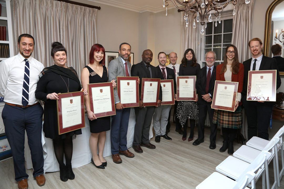 From left to right: Fouad Elgindy, Meghan Brien, Jennifer Low, Edward Thomas, Edward Nkole, Mark Richardson, Tony Noble, Diana Turner, Patrick Deane, Alexandra Pedersen, and Zachary Kenny