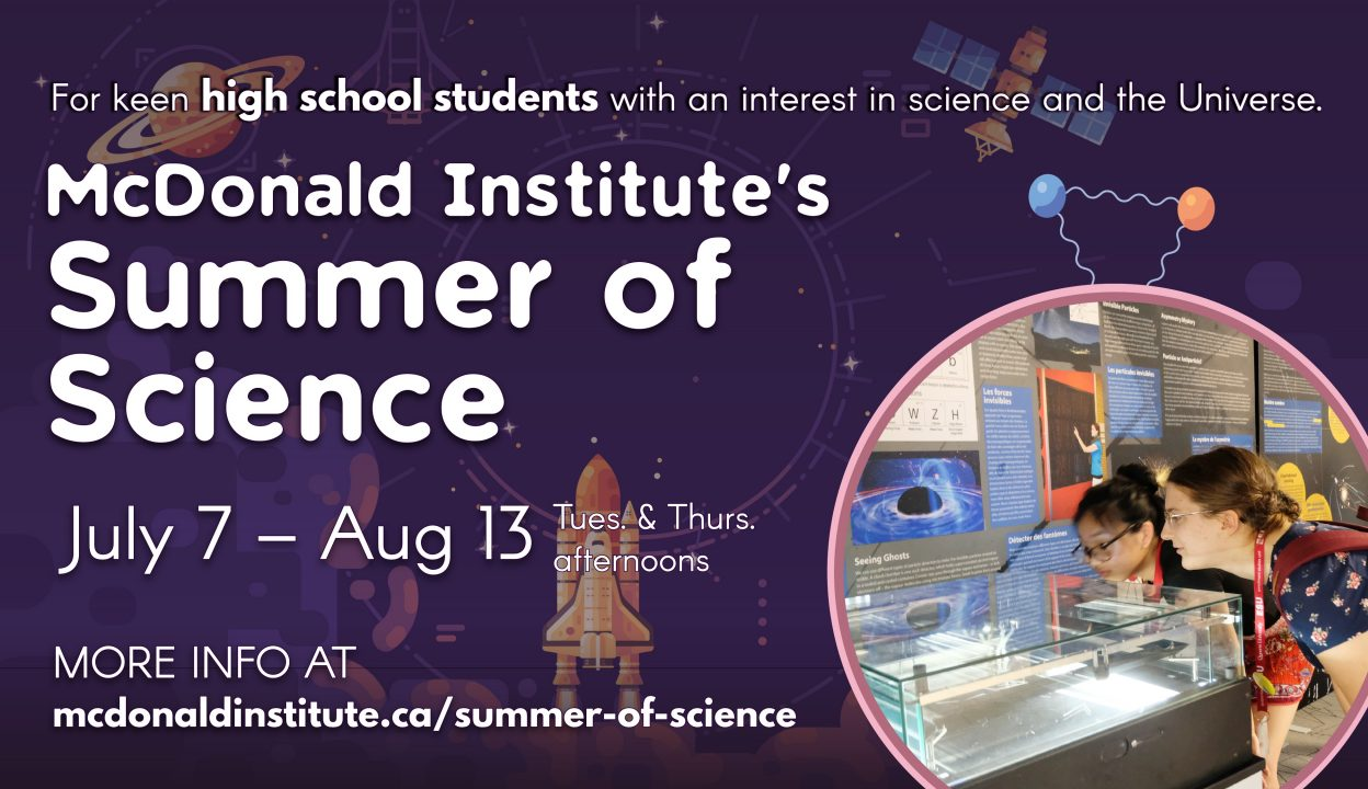 Advertising Poster for the Summer of Science Program.