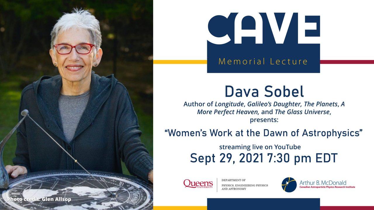 Poster for Dava Sobel's talk