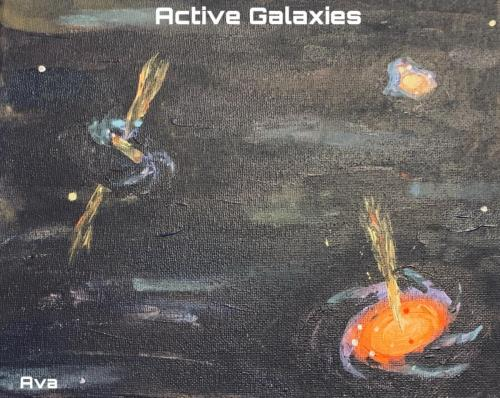 "Artist: Ava (age 14) </br>Title:  ""Galaxies"""